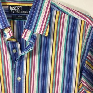 Polo Ralph Lauren striped cotton button down shirt